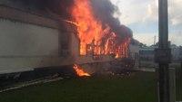 La. fire dept. working fire on Mills Street