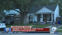 Detroit officer stable after drive-by shooting injury