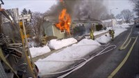 Early video: Pa. house fire