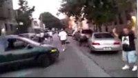Car thief tries to escape police