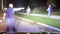 Wis. police dashcam catches arrest of creepy clowns