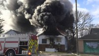 Early video: Mich. house fire