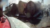 Helmet cam: Tank explosion at Okla. quarry
