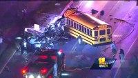 MTA bus, school bus collide in Baltimore