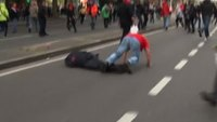 Brussels police chief knocked out during protest