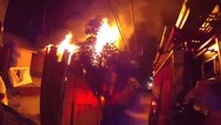 Helmet cam: House fire in Calif.