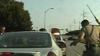 Officer mistakenly fires gun in bizarre Iowa pursuit