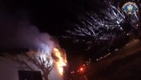 Calif. firefighters knock down structure fire