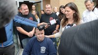 Injured Del. firefighter released from hospital