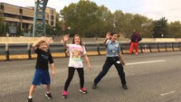 EMT and children dance 'Whip/Nae Nae'