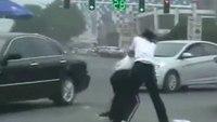 Women officers fist fight in traffic