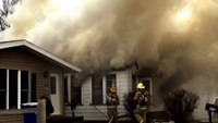Raw video: Iowa house fire
