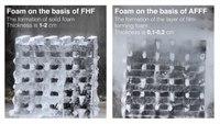 Fast-hardening firefighting foam