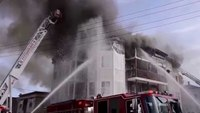 Arrival video: 4-alarm fire in Mass.