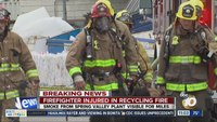 Firefighter injured in Calif. recycling yard fire