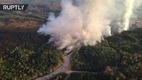 Aerial footage: Ala. gas line explosion