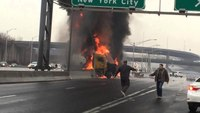 Driver escapes fiery N.J. tanker crash