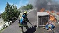 Helmet cam and radio traffic: Calif. house fire