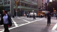 Female Manhattan cop dances while directing traffic