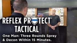 Never Before – One Man: Three Rounds Spray and Decon Within 15 Minutes.