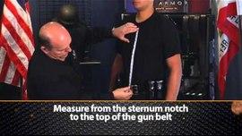 Proper Measuring of an Officer for Ballistic Vests (U.S. Armor)