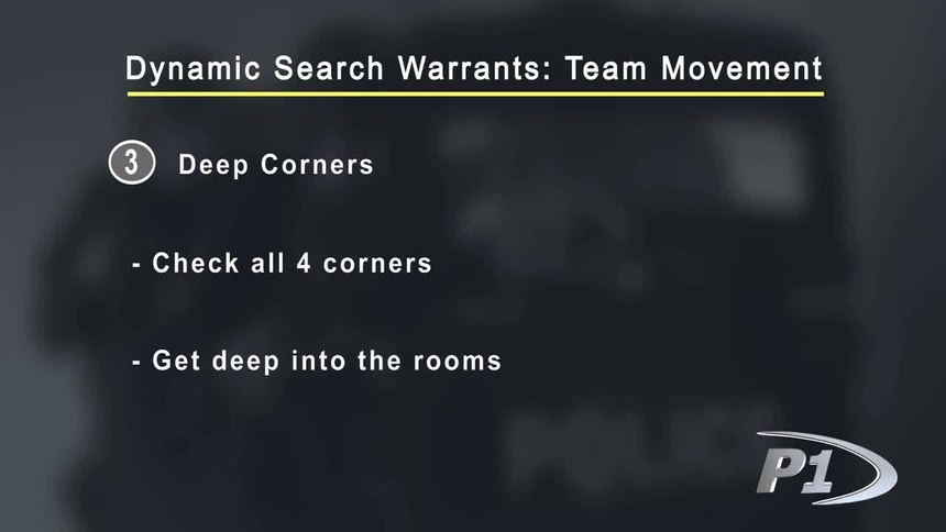 Dynamic Search Warrants - Team Movement