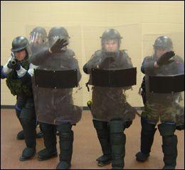 Riot shield tactics