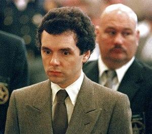 In this Sept. 1987 file photo, serial killer Donald Harvey stands before a judge during sentencing in Cincinnati. (AP Photo/Al Berhman, File)