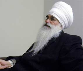 In this March 2012 photo provided by his family, Punjab Singh poses at a Sikh temple in Glen Rock, N.J. (AP Image)