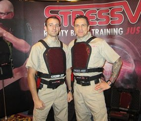 The StressVest is an offshoot of and uses the same technology as the ShocKnife, made by the same company.