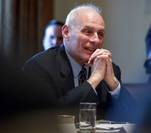 In this photo taken March 13, 2017, Homeland Security Secretary John Kelly is seen in the Cabinet Room at the White House in Washington. (AP Photo/Andrew Harnik, File)