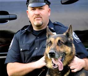 Folcroft Police Cpl. Christopher Eiserman and K9 Officer Umberto. (Photo courtesy Christopher Eiserman)