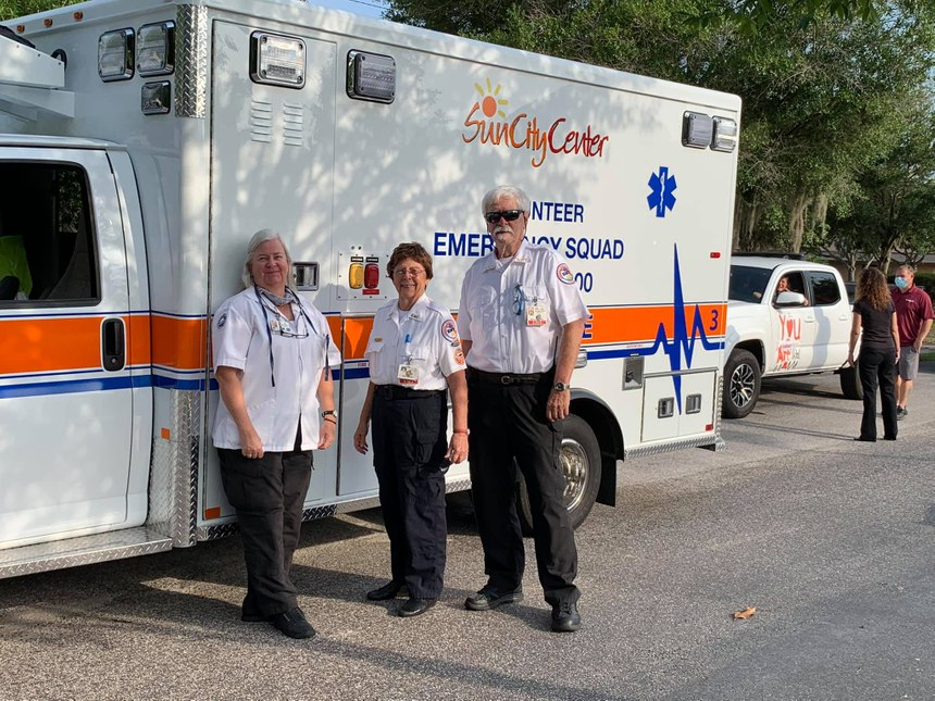 Sun City Center Emergency Squad was named the 2020 Volunteer EMS Service of the Year by the NAEMT and EMS World. (Photo/Sun City Center Emergency Squad Facebook)