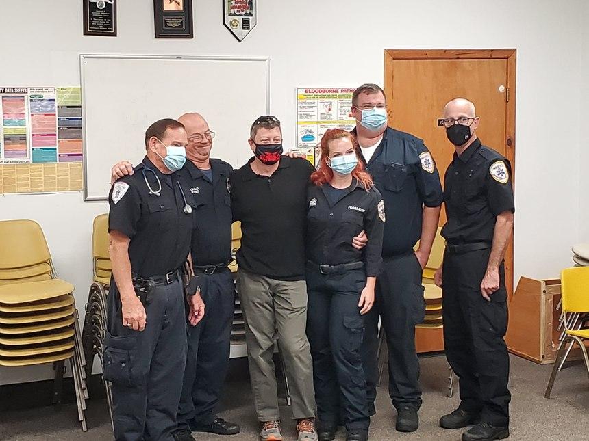 From left to right: Empress EMS Paramedics Richard Harvey, William Rothschild, Matthew Tuttle, Kelsey Dworjan, Brian Fleming and Ronald Pugh. (Photo/Empress EMS)