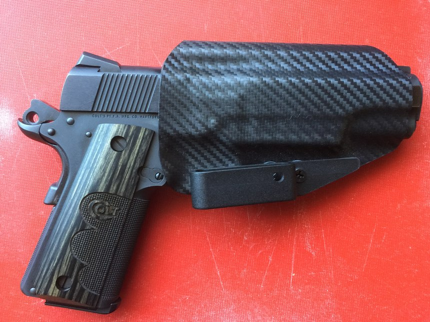 Even though it is a big gun, the 1911 carries flat and makes a good choice for concealment.