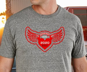 Everyday Hero T-shirts to support first responder charities are available for purchase for $14.99.