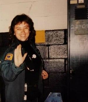 FDNY EMS Chief Lillian Bonsignore in 1994. (Photo/FDNY)