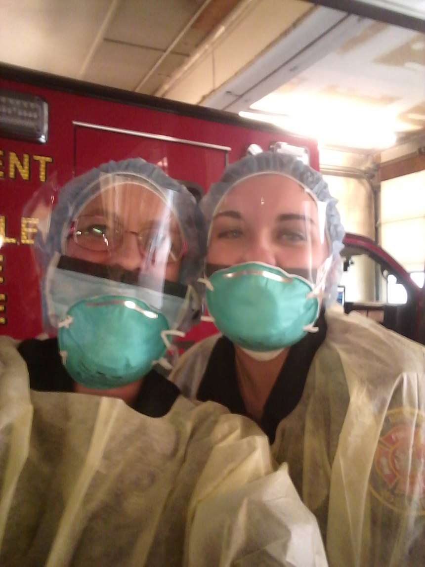(Photo/Paramedic Cassidy McDonough, left, Fire Department of North Versailles)