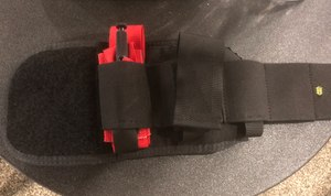 The 247 Trauma Wrap allows officers to carry a lifesaving first-aid kit on their ankle. (Photo/Mike Wood)
