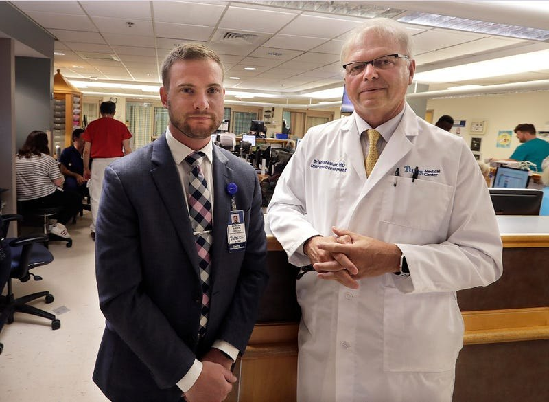 Nick Duncan, left, director of emergency management at Tufts Medical Center, and Brien Barnewolt, chairman of the Department of Emergency Medicine.