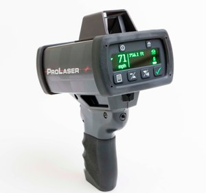Data is wirelessly collected by using the ProLaser 4 to target vehicles.