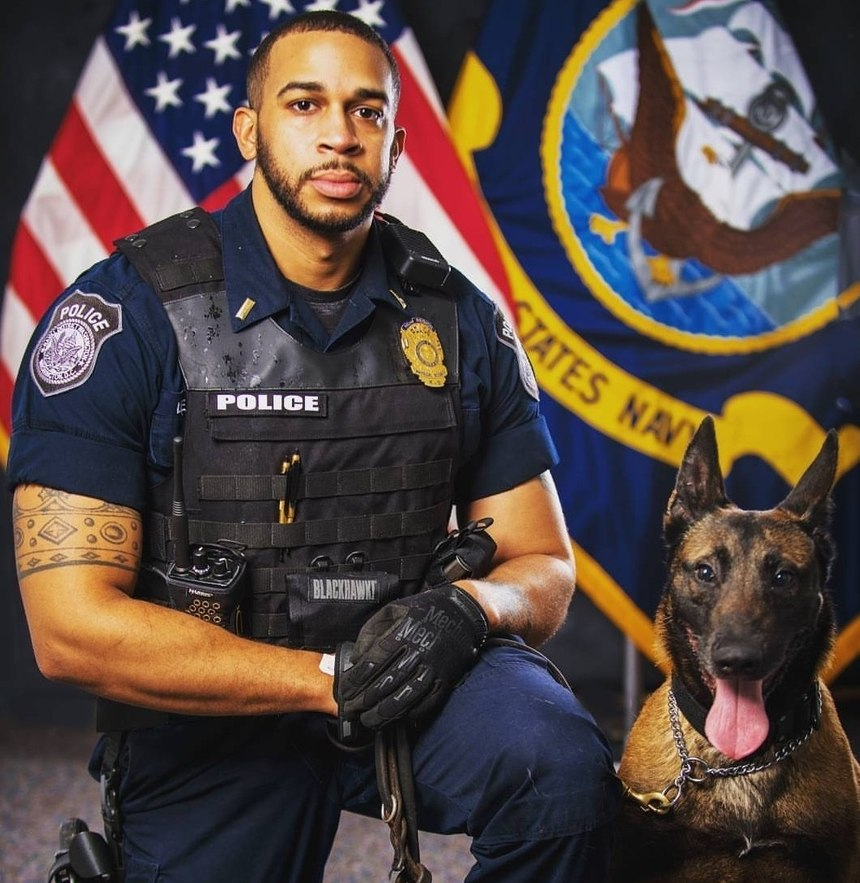 Leo and military working dog Ivan were reunited by Mission K9 Rescue in 2019.