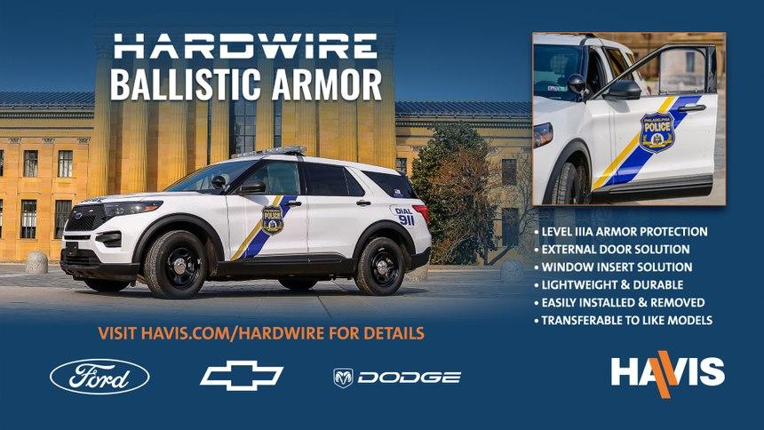 Hardwire ballistic panels are proven, high performance, lifesaving vehicle armor. (Photo/Havis)