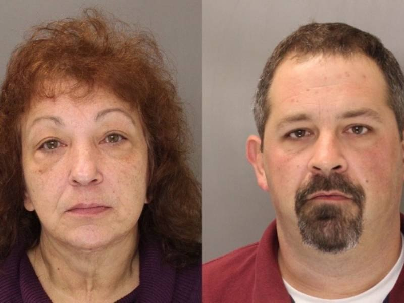 """Brian Eckert, 41, of Langhorne, and Ruth """"Roxy"""" Rookstool, 58, of Morrisville, will pay full restitution after stealing $130,000 from theMorrisville Ambulance Squad. (Photo/Bucks County District Attorney)"""