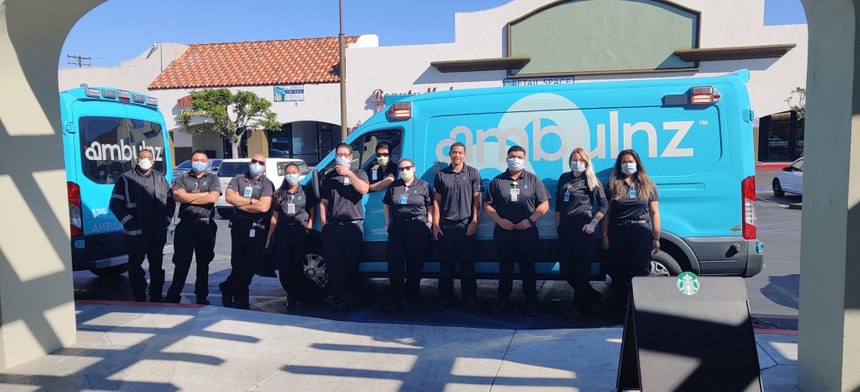 The company, whose teal-colored rigs have become a viral sensation, has a total of 1,500 employees; 1,450 of which are EMTs and paramedics. They also employ nurses, respiratory therapists and wheelchair van drivers, many of whom are W-2 employees. (Photo/Ambulnz)