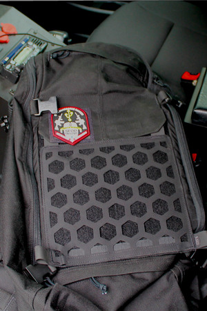No pack would be complete without hook and loop attachments for morale patches or other attachments.