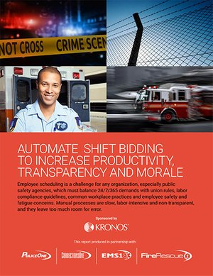 Automate shift bidding to increase productivity, transparency and morale (white paper cover)