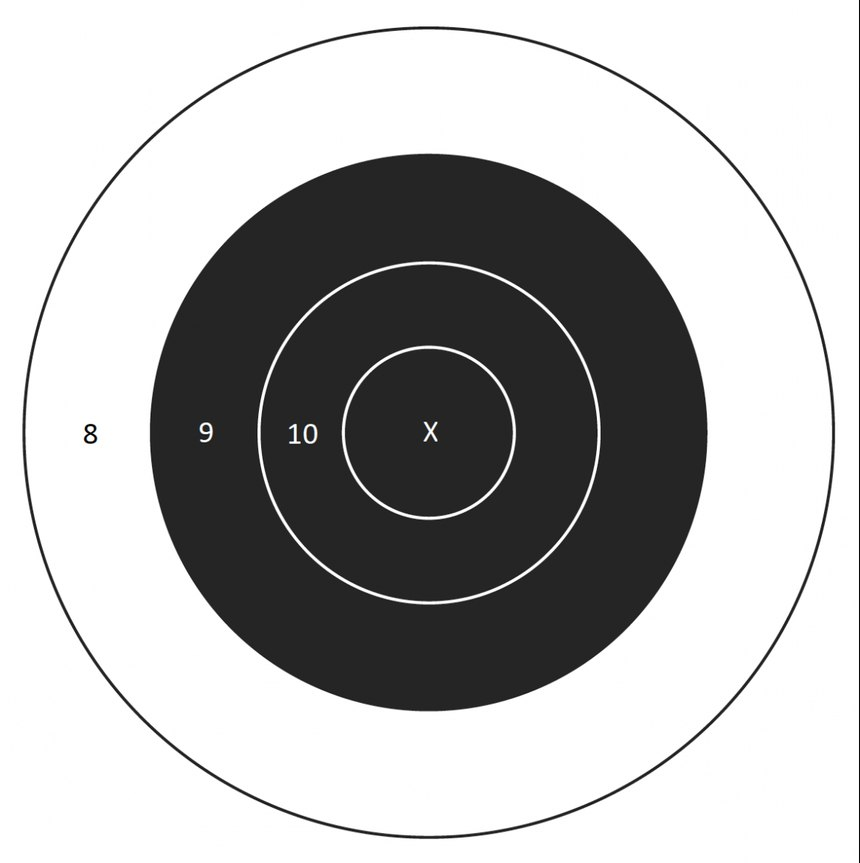 B8 Targets can be printed online or purchased from numerous sources.
