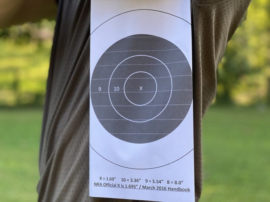 As you can see, the size of the targeted area does not change when engaging from the side.