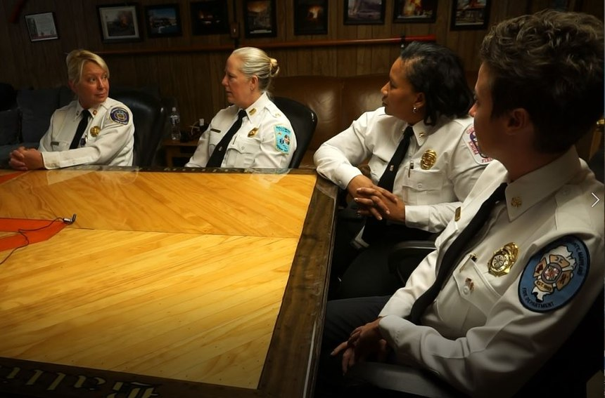 The four chiefs discussed their priorities, passions and struggles as the first female fire chiefs for each of these jurisdictions. (Photo/Marc Bashoor)